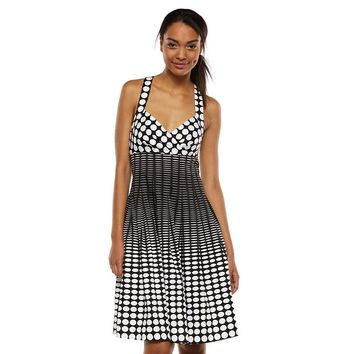 Dana Buchman Polka-Dot Fit & Flare Dress
