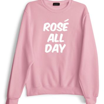[rose all day] letter sweater