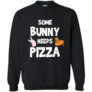 Cute Gift Ideas For Easter. Costume For Pizza Lover. Printed Crewneck Pullover Sweatshirt 8 oz
