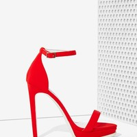 Jeffrey Campbell Finola Heel - Red Neoprene