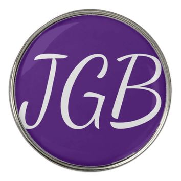 Monogrammed Golf Ball Marker Choose Your Own Color