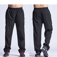 Mens Exercise Pants Quickly Dry Mens Active Pants Men Physical Trousers