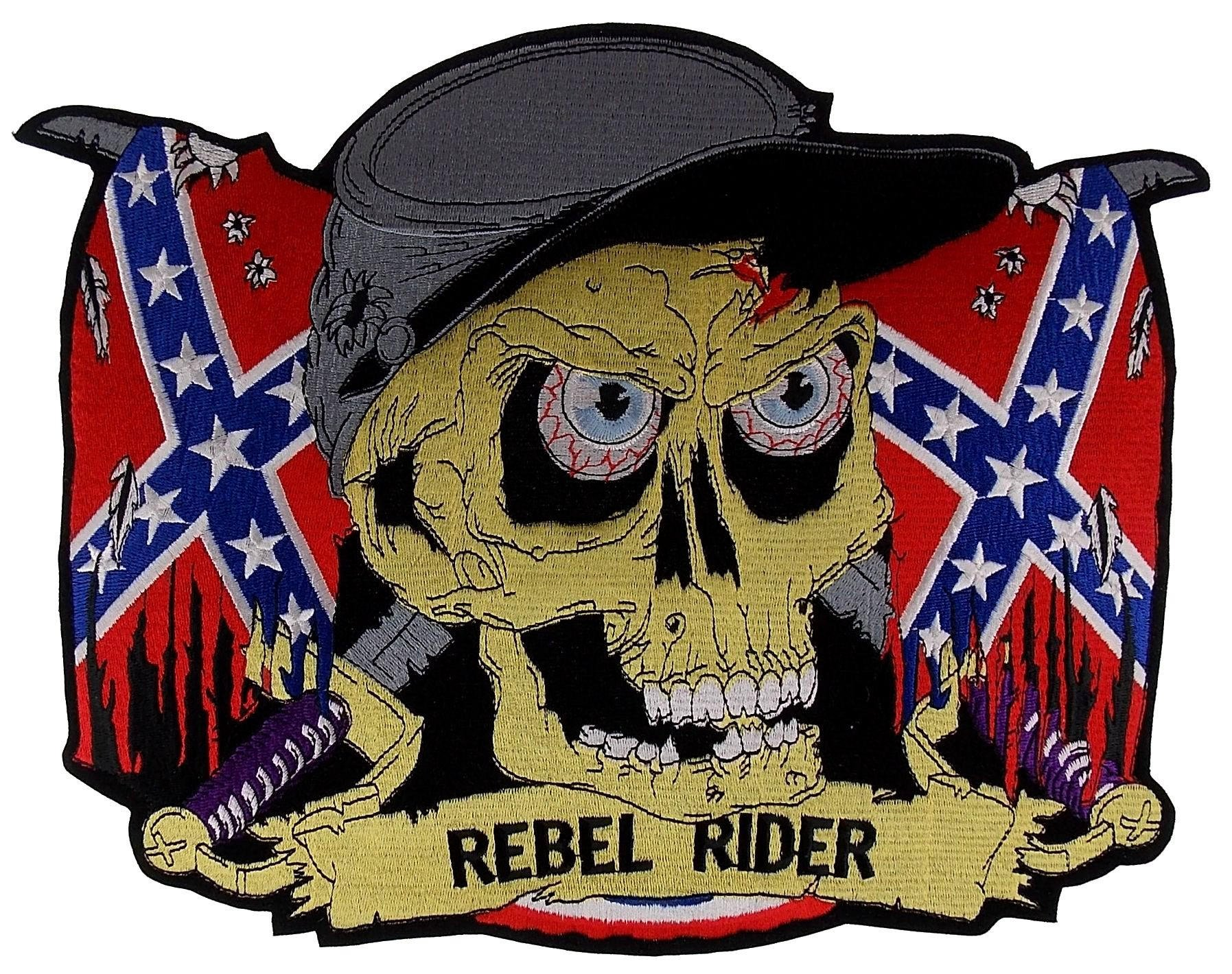 Confederate Flag Home Decor Rebel Rider Confederate Flag Skull Patch From