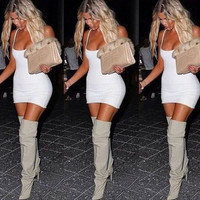 AS SEEN ON KHLOE KARDASHIAN - KOKO MINI IN WHITE
