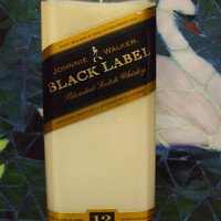 20 Ounce Pure Soy Candle in Reclaimed Johnnie Walker Black Liquor Bottle - Your Choice of Scent