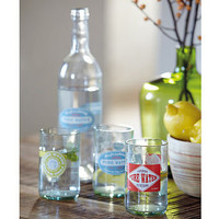water bottle and glasses set by berry red | notonthehighstreet.com