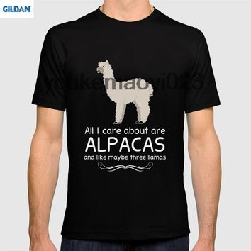 GILDAN All I Care about are Alpacas and Maybe like Three Llamas T-Shirt
