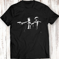 Pulp Fiction T Shirt Women Men Gift Idea Quentin Tarantino Samuel L Jackson Travolta Tee Garment Apparel