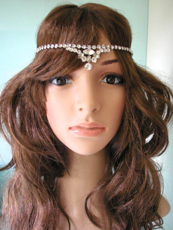 Great gatsby headpiece art deco from crystalpearljewelry on etsy