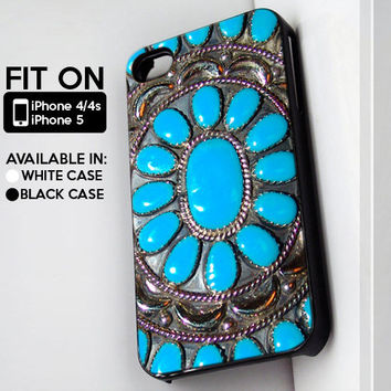 Blue Gem - iPhone 4/4s or iPhone 5 Case - Black or White