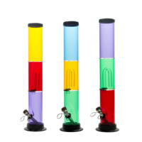 Multi-Colored Acrylic Percolator Bong - 14 Inches - Assorted