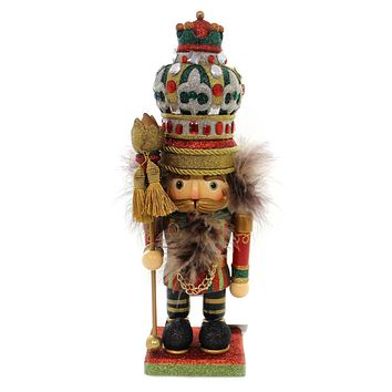 Christmas HOLLYWOOD FANCY KING NUTCRACKER Wood Jewels Ha0270