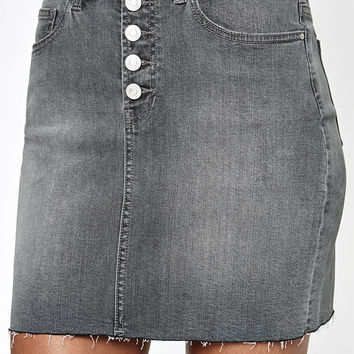 PacSun Exposed Button Denim Skirt at PacSun.com