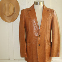 Trail Boss - Vintage Leather SCULLY Western Jacket - Circa 70-80's - Buttery Soft Leather - Rockabilly - Cowboy
