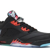 CUPCUPB Ready Stock Nike Air Jordan 5 Retro Low Cny Chinese New Year Black Orange Basketball Sport Shoes