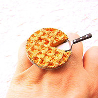 Apple Pie  Ring Miniature Food Jewelry