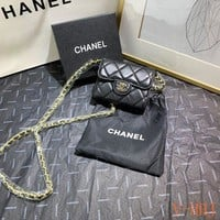 460 Fashion Classic Duckle Embossing Chain Flap Bag Casual Wallet
