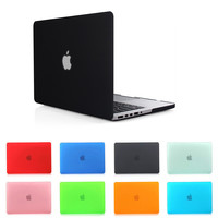 NEW Fashion Matte Case for Macbook air 11/ Pro 13 /15 Pro Retina 12 13/15 + Dustproof plug + screen film for Macbook air 13 case