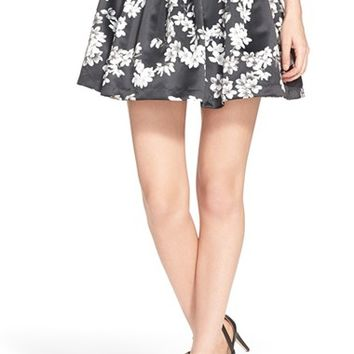Women's Alice + Olivia 'Fizer' Floral Print Skirt,