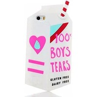 White Milk Box Boys Tears Soft Silicone Back Case for Apple iPhone 6 4.7 inch