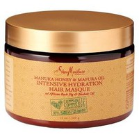 SheaMoisture® Community Commerce Manuka Honey & Mafura Oil Intensive Hydration Hair Masque 12oz : Target