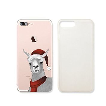 Cute Llama Merry Christmas Slim Iphone 7 Case, Clear Iphone Hard Cover Case For Apple Iphone 7 Emerishop (iphone 7)
