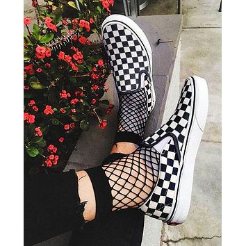 Vans Old Skool Classics  Sneaker fun blessing shoe black white tartan