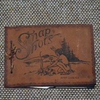 1930s Snap Shots from Loon Lake NY Photo Leather Souvenir Photo Album