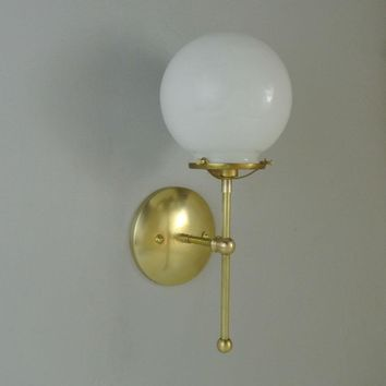 Traditional Glass Globe Wall Sconce