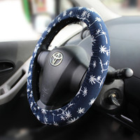 Steering wheel cover – Cozy car wheel cover, steer cover, bow wheel, automobile wheel cover, car decor – car gift for her, accessory for him