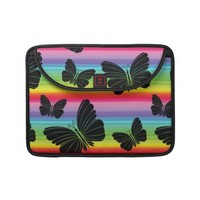 Rainbow butterflies Rickshaw Flap Sleeve MacBook Pro Sleeve