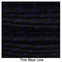 550 Paracord Type III - Thin Blue Line
