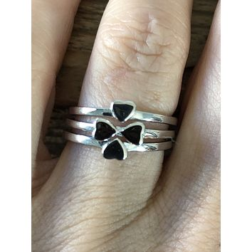 SAMPLE SALE  Heart Puzzle Ring Set Size 7