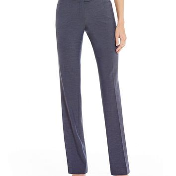 Calvin Klein Luxe Stretch Dressy Denim Suiting Modern Fit Straight-Leg Pants | Dillards