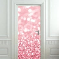 Door Wall STICKER poster bling glitter rose decole film valentines 30x79""