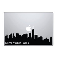 "New York skyline Vinyl Decal / Sticker to fit Macbook Pro 13"" 15"" 17"" - Custom sizes available - die cut urban cityscape America manhattan"