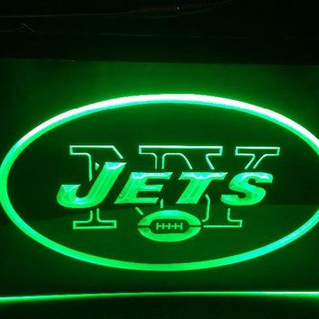 b-123 New York Jets beer bar pub club 3d signs LED Neon Light Sign man cave