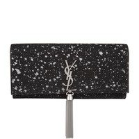 Saint Laurent Saint Laurent Glitter Print Monogram Tassel Clutch | Harrods