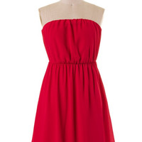 Sideline Sweetie Gameday Dress - Red & White