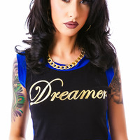 Cemi Ceri Blocked Out Dreamer Crop Top