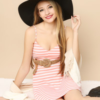 Striped Short Dress