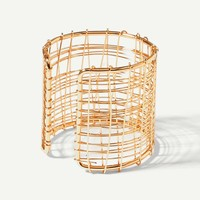 Multi Layered Hollow Cuff Bracelet 1pc