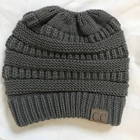 Stretch Knitted Slouch Cc Beanie