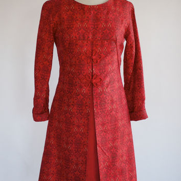 60s Silk Shantung Dress