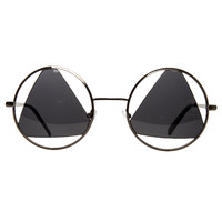 The Vintage Triangle Sunglasses in Black