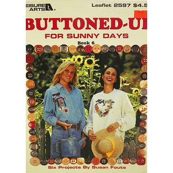 Buttoned-Up - For Sunny Days - Book 6 - Counted Cross Stitch Leaflet - Leisure Arts
