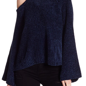 1.State | Knit Bell Sleeve Exposed Shoulder Sweater | Nordstrom Rack