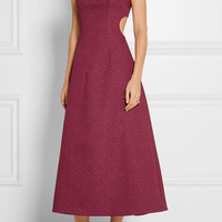 Emilia Wickstead - Danielle cutout cloqué midi dress