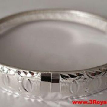 Handmade Fancy One of a Kind Pattern 999 Solid Fine Silver Adjustable Bangle
