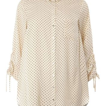 DP Curve Ivory Draw Cord Shirt - View all Plus Size Clothing - Shop By Fit